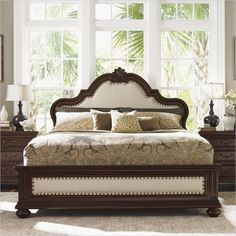 Lowest price online on all Tommy Bahama Home Kilimanjaro Barcelona Panel Bed in Tangiers - 01-0552-13XC