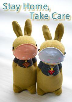 Grace -- sock bunny Domy Rabbit #handmade #craft #sockdoll #StayHome #TakeCare #StayHomeTakeCare Sock Bunny, Sock Dolls, Sock Animals, My Socks, Take Care, Rabbit, Crafts, Handmade, Etsy