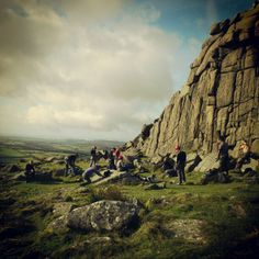 Climbing session with the 2012-2013 group at Sheepstor on Dartmoor.