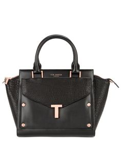 T tote and clutch bag - Black   Bags   Ted Baker FR