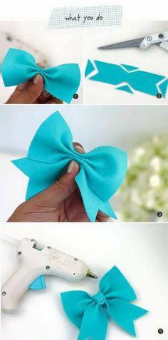 new ideas baby diy sewing homemade gifts children Ribbon Crafts, Felt Crafts, Diy Crafts, Ribbon Diy, Ribbon Flower, Diy Bebe, Felt Bows, Diy Couture, Diy Hair Bows
