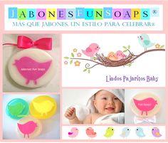 Recuerdos en jabón para baby shower en forma de pajarito baby......funsoaps@hotmail.com