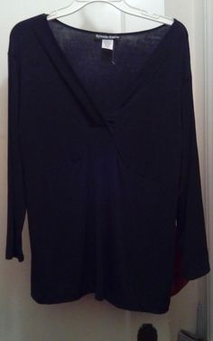 LADIES/TOP/BLOUSE/BLACK/NWOT/KRISTIN MARIE/2X/VERY NICE #KRISTINMARIE #Blouse #EveningOccasion
