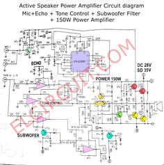 active speaker power amplifier  dc circuit, circuit diagram