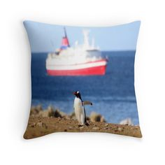 'penguin' Throw Pillow by umumar Framed Prints, Canvas Prints, Art Prints, Penguin S, Art Boards, Duvet Covers, Throw Pillows, Poster, Painting