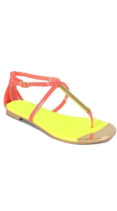 Dolce Sandals - Coral - $14.00 | Daily Chic Shoes | International Shipping
