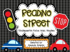 Reading Street Kindergarten Focus Wall Headers FREEBIE