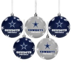 c6c04b05a Forever Collectibles Dallas Cowboys 2016 NFL Shatterproof Ball Ornaments  Dallas Cowboys Gifts