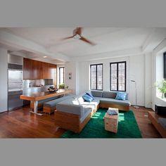 apartament TRANSFORMER by studio garneau_sliding wall closed providing a serene bedroom