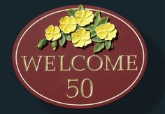 Welcome House Sign / Danthonia Designs