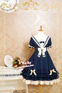 【草莓巫女】LOLITA洛丽塔洋装 *莱茵河的帆影*夏日海军学院风