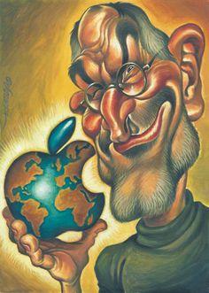Steve Jobs by Joan Vizcarra Marie Curie, Celebrity Drawings, Celebrity Caricatures, Steve Jobs, Pop Art, Cartoon Photo, Caricature Artist, Funny Illustration, Realistic Drawings