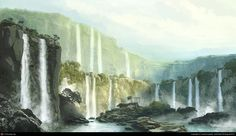 Wild water - Waterfalls Wallpaper ID 1430232 - Desktop Nexus Nature - Darline - Wallpapers Designs Waterfall Wallpaper, Rock Waterfall, Wild Waters, Paradise City, Type Illustration, Fantasy Places, Landscape Wallpaper, Fantasy Landscape, Viera