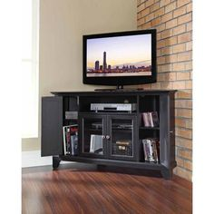 Crosley Furniture Newport Corner TV Stand for TVs up to 48""
