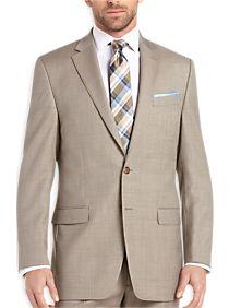 Lauren by Ralph Lauren Tan Sharkskin Classic Fit Suit
