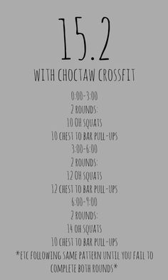 Open WOD 15.2 at Choctaw CrossFit