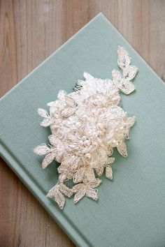 ANNABEL wedding bridal headpiece, lace comb, bridal headpiece, wedding comb via Etsy