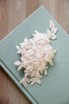 ANNABEL wedding bridal headpiece lace comb bridal by percyhandmade