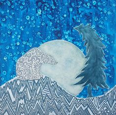 Bedtime Stories - My Painted Path My Favourite Subject, Winter Night, Bedtime Stories, Polar Bear, Paths, Birds, Cold, Artwork, Artist