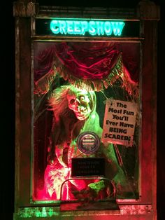 Creepshow an awesome horror flick comprised of different stories. My favorite is Something to Tide You Over, Where Leslie Nielson gets haunted by 2 ghosts he killed.