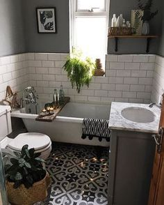 49 Affordable Green Bathroom Design Ideas Your bathroom is a great place to unleash all of your interior design ideas. Because a bathroom space is so […] Bath Board, Bathroom Interior, Bathroom Decor, Bathrooms Remodel, Beautiful Bathrooms, Tile Bathroom, Small Bathroom Design, Home Decor, Green Bathroom