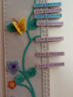 Diy For Kids, Crafts For Kids, Growth Chart Ruler, Emoji Images, Height Chart, Felt Ornaments, Baby Sewing, Handmade Baby, Corporate Gifts