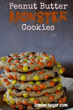 Peanut Butter Monster Cookies | Recipe Devil