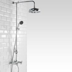 Shop the Richmond Traditional Thermostatic Shower with Rigid Riser Kit & Diverter. Now in stock and available online from Victorian Plumbing.co.uk.