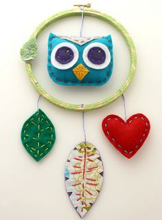 Not much for dream catchers but. Diy Craft Projects, Projects To Try, Craft Ideas, Home Crafts, Diy Crafts, Owl Fabric, Baby Store, Future Children, Dreamcatchers
