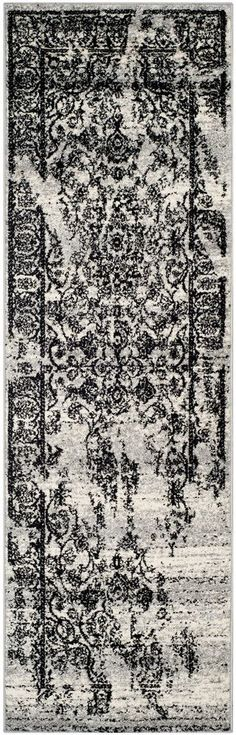 Dion Silver/Black Power Loomed Area Rug