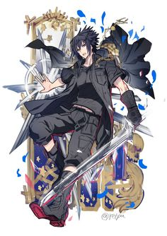 ขออนุญาต (@I_am_numer1) | ทวิตเตอร์ Noctis Final Fantasy, Final Fantasy Artwork, Final Fantasy Characters, Fantasy Series, Fantasy World, Gamers Anime, Anime Guys, Game Character, Character Design