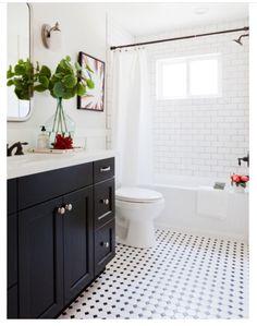 shower rod matches vanity