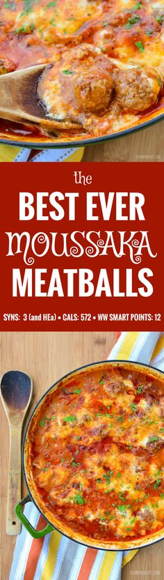 Slimming Eats Moussaka Meatballs - gluten free, Slimming World (SP) and Weight…