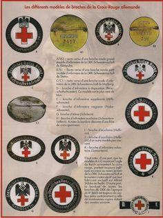 DRK Deutsches Rotes Kreuz, pins  and stamps