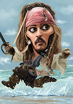 Johnny Depp Captain Jack Sparrow Caricature Limited Edition on Canvas   Johnny Depp Captain Jack Sparrow Caricature Limited Edition on Canvas Certificate of Authenticity included. 100% satisfaction or complete refund. This artwork does not arrive to you in a tube. It arrives already stretched on the stretcher bars, read to hang in your home or office.  http://www.finelifeart.com/johnny-depp-captain-jack-sparrow-caricature-limited-edition-on-canvas/