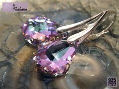 Silber Ohrringe - Ohrringe Farbexplosion 925 Silber by Thaliana - ein Designerstück von Thaliana bei DaWanda