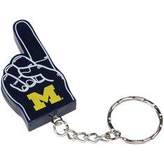 Michigan Wolverines #1 Foam Finger Keychain