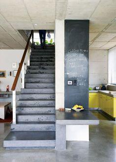 Concrete, chalkboard, and yellow #concrete #chalkboard #yellow