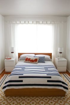 Contributor Style: Andie's Own Bedroom Apartment Therapy Contributor Style: Andie's Own Bedroom Small Apartment Bedrooms, Small Apartments, Home Bedroom, Bedroom Decor, Bedroom Ideas, Bedroom Small, Bright Apartment, White Apartment, Double Bedroom