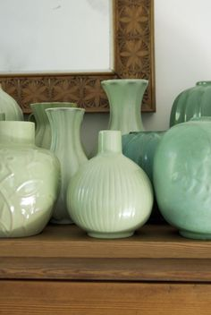 Gefle fajans and Uppsala Ekeby, Swedish ceramics from the 1920-40th, love the green colour