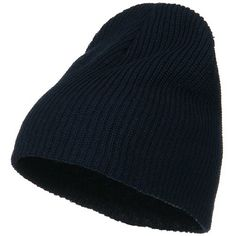 Eco Cotton Ribbed Big Classic Beanie - Navy