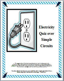 This three page science test over electricity is composed of critical thinking questions written in three different formats:  multiple choice (4 questions), short essay (2 questions) and fill in the blank (5 questions), and is designed to check content knowledge as well as the students' understanding.  Four different levels of Bloom's Taxonomy are also represented:  knowledge, comprehension, analysis, and evaluation.  Diagrams are incorporated in the test to aid the visual learner.