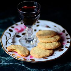 Rose Chef's Essence is used in this recipe for Clarimond Perfumed Port with Ambergris Tea Cakes