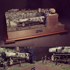 """The Great Escape"" 1/35 diorama. German BR52 Locomotive. From GreatNorthRoads.co.uk ... #Diorama #Miniature #Model #ScaleModel #Vignettes"