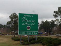 #Penske Truck Rental Road Trip ... a bit of rain in #Alabama.