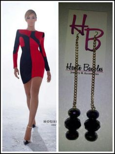 Pair these amazing Haute Baubles Earrings with this fabulous color blocked dress by House of Dereon!!!!