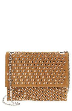 LANVIN 'Mini Sugar' Grommet Suede Crossbody Bag. #lanvin #bags #shoulder bags #crossbody #suede