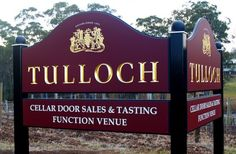 Tulloch Winery Sign / Danthonia Designs