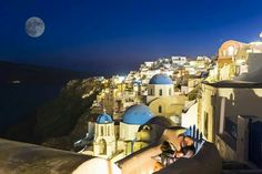 Santorini   Happy Full Moon!!!