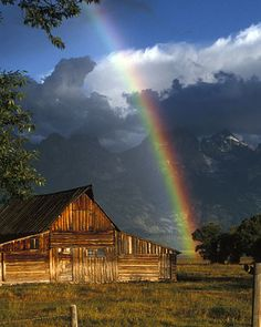 Rainbow over the Moulton Barn, Grand Teton National Park